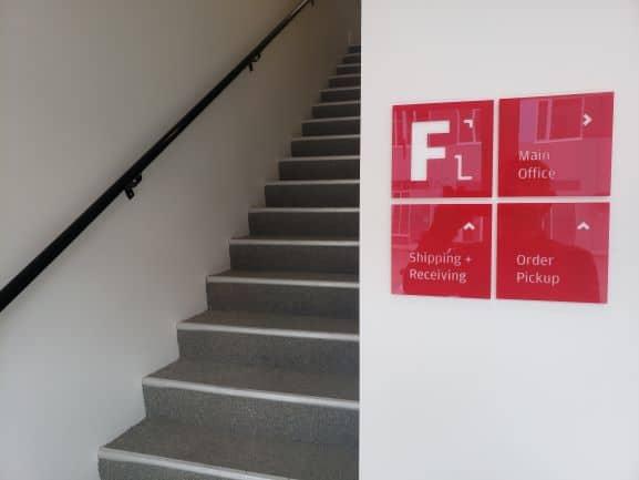 Dimensional Lobby Wayfinding signage