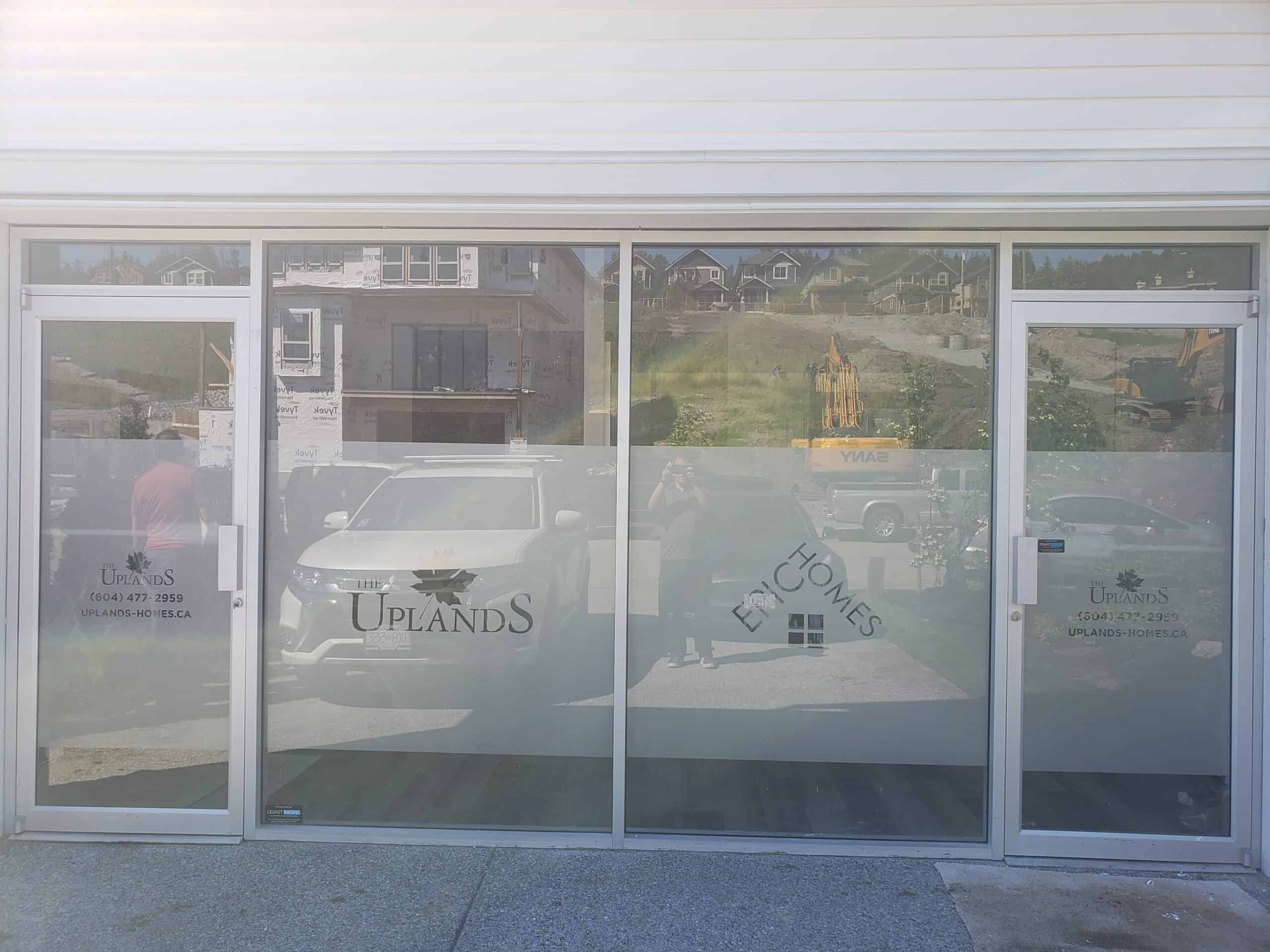 Frosted Business Windows