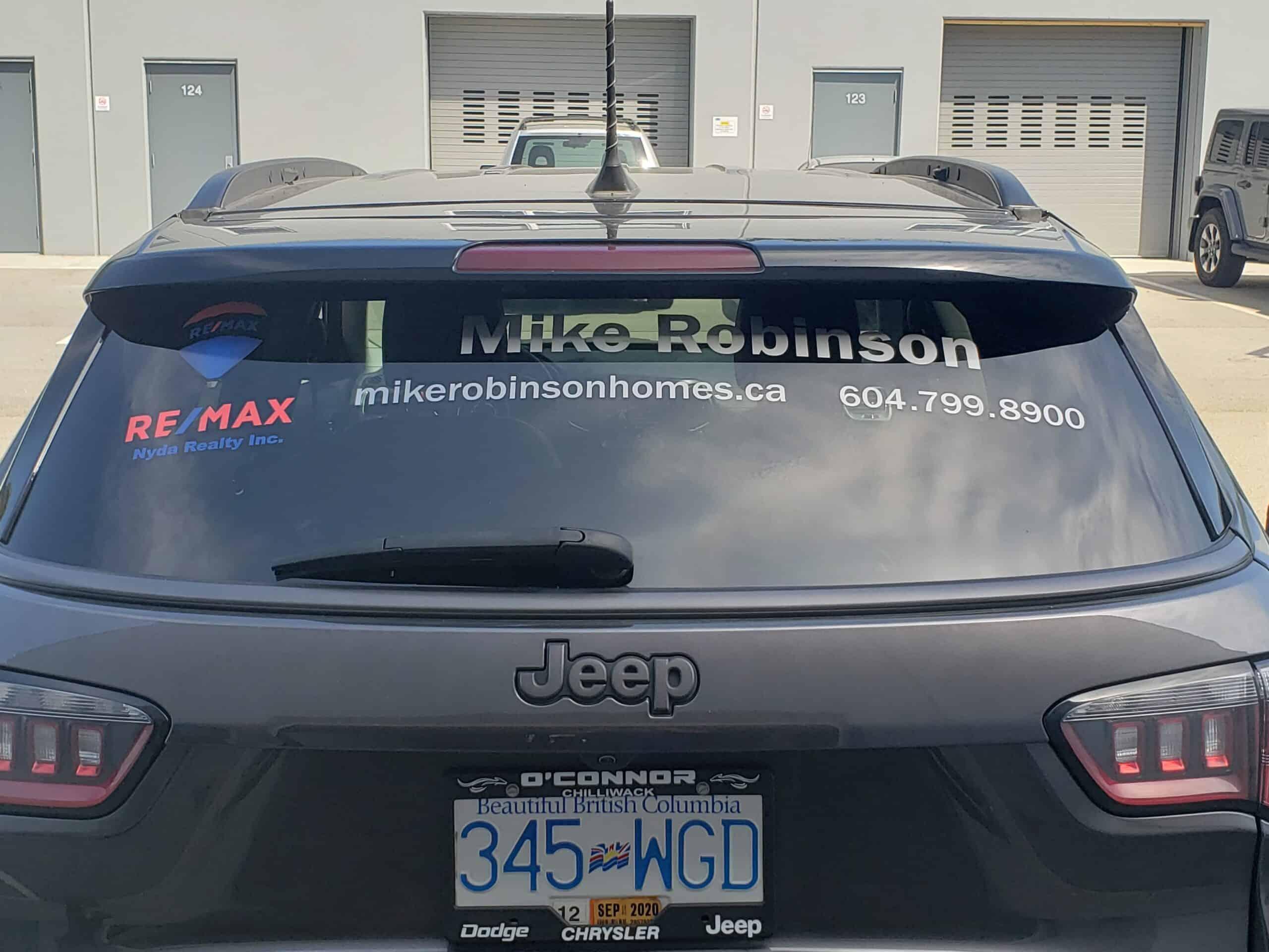 Vehicle window decals