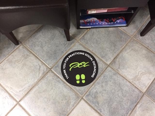 PEL floor graphic