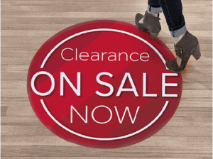 on sale floor graphics