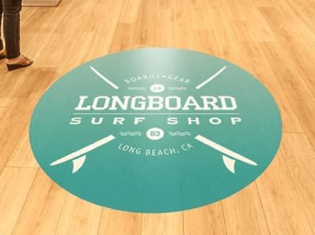 surf shop floor graphics