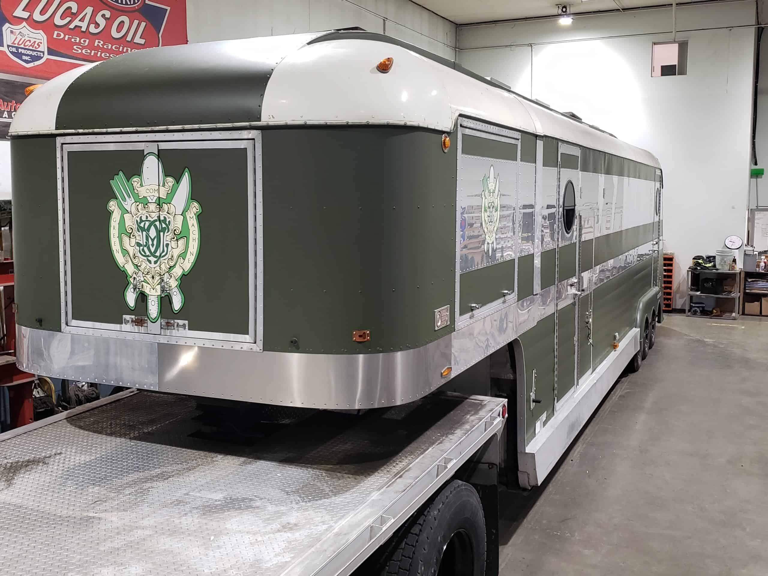 car decals, green machine logo