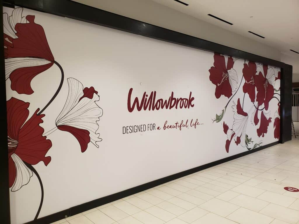 Hoarding job for shop inside a mall with vinyl graphics