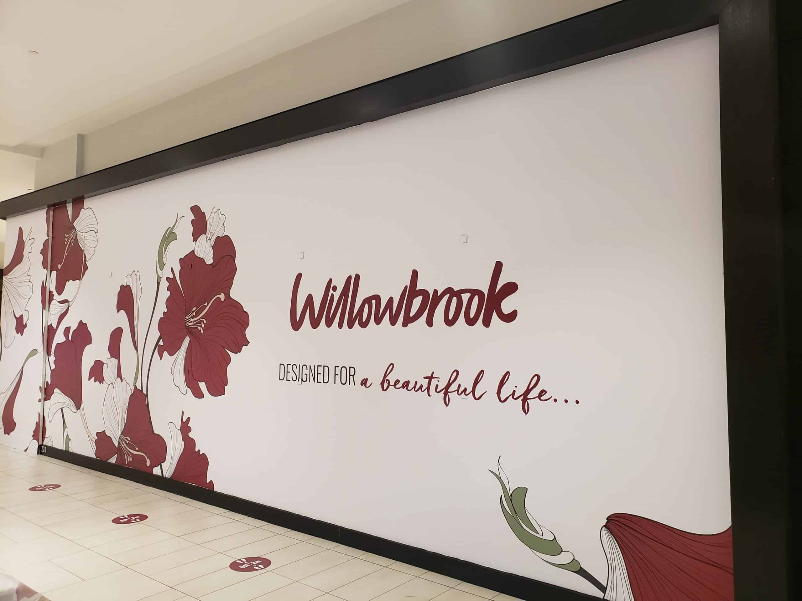 Willowbrook Mall vinyl graphics wall mural