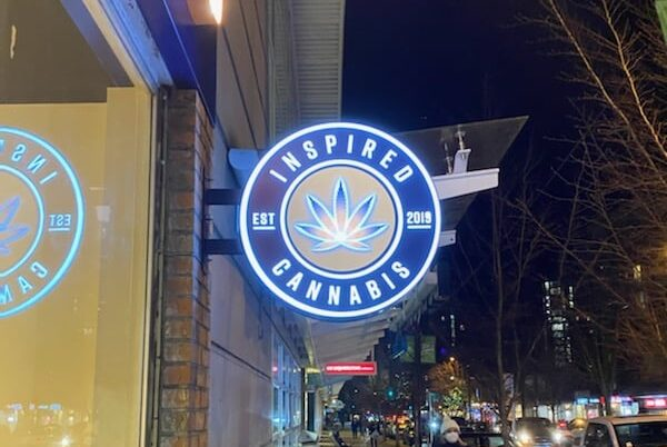 Inspired outside sign