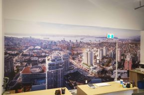 Indoor Wall business mural graphic