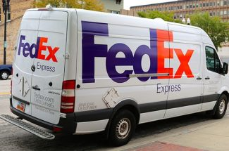 Vehicle wraps and graphics for FedEx